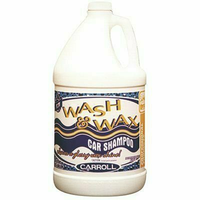 CARROLL COMPANY CARROLL WASH AND WAX CAR WASH SHAMPOO, YELLOW, 1 GALLON, 4 PER CASE - CARROLL COMPANY PART #: 7575278281