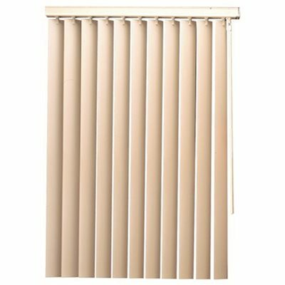 DESIGNER'S TOUCH WHITE PVC 3.5 IN. VERTICAL BLINDS - 102 IN. W X 84 IN. L - DESIGNER'S TOUCH PART #: 8230-4H