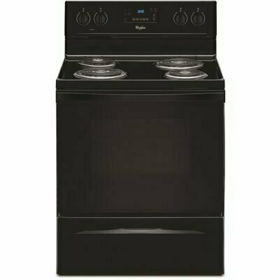 WHIRLPOOL 4.8 CU. FT. ELECTRIC RANGE WITH SELF-CLEANING OVEN IN BLACK - WHIRLPOOL PART #: WFC310S0EB