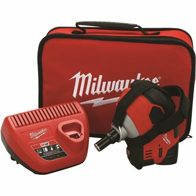 MILWAUKEE M12 12-VOLT LITHIUM-ION CORDLESS PALM NAILER KIT WITH (1) 1.5AH BATTERY, CHARGER AND TOOL BAG - MILWAUKEE PART #: 2458-21