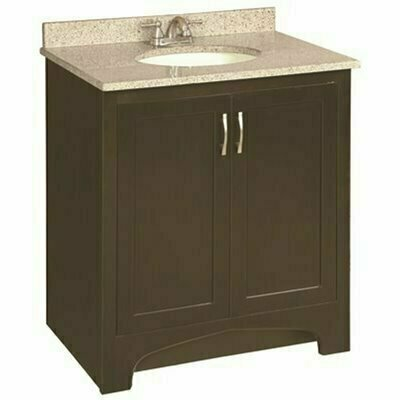 PREMIER 30 IN. X 33-1/2 IN. X 21 IN. DESIGN HOUSE VENTURA BATHROOM VANITY CABINET ONLY READY TO ASSEMBLE 2-DOOR IN ESPRESSO - PREMIER PART #: 104729