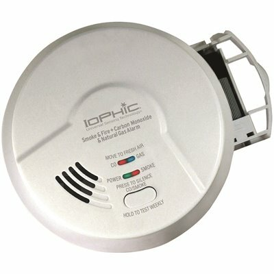 UNIVERSAL SECURITY INSTRUMENTS AC HARDWIRED IOPHIC SMOKE/FIRE CARBON MONOXIDE AND NATURAL GAS ALARM WITH BATTERY BACKUP - UNIVERSAL SECURITY INSTRUMENTS PART #: MDSCN111