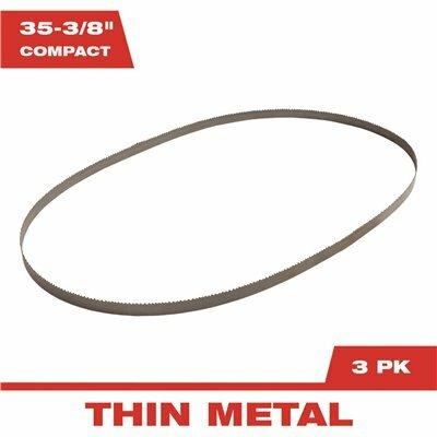 MILWAUKEE 35-3/8 IN. 18 TPI BI-METAL COMPACT BAND SAW BLADE (3-PACK) - MILWAUKEE PART #: 48-39-0529