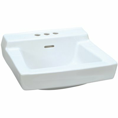 GERBER 19 IN. X 17 IN. GERBER PLYMOUTH WALL-HUNG BATHROOM SINK IN WHITE