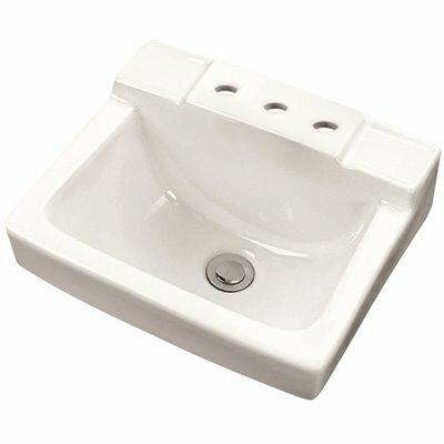 GERBER WEST POINT 12 IN. SPACE SAVER WALL HUNG SINK BASIN IN WHITE