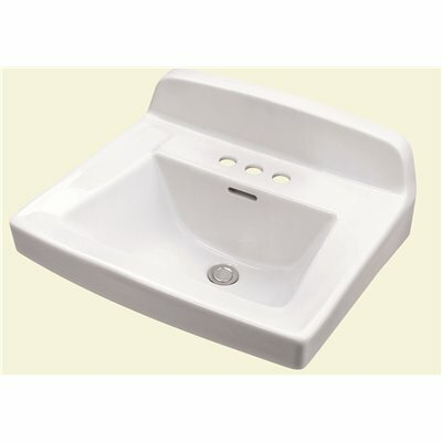GERBER MONTICELLO II 18.5 IN. WALL HUNG SINK BASIN IN WHITE