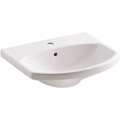 KOHLER CIMARRON 3-5/8 IN. VITREOUS CHINA PEDESTAL SINK BASIN IN WHITE WITH OVERFLOW DRAIN