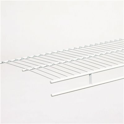 CLOSETMAID WARDROBE 12 IN. D X 48 IN. W X 1.5 IN. H WHITE VENTILATED WIRE WALL MOUNTED SHELF KIT