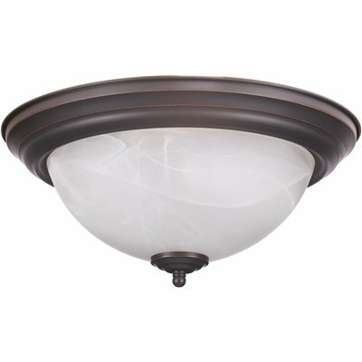 Design House Millbridge 2 Light Oil Rubbed Bronze Ceiling Semi Flush Mount Light Fixture