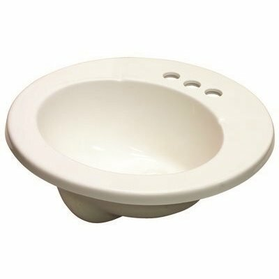 PREMIER 19-1/2 IN. X 8-1/4 IN. DROP-IN ROUND CULTURED MARBEL LAVATORY SINK IN WHITE
