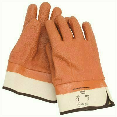 ANSELL PROTECTIVE PRODUCTS WINTER MONKEY GRIP TEX INSULATED GLOVES WITH SAFETY CUFFS, ORANGE