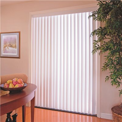 DESIGNER'S TOUCH 3.5 IN. PVC VERTICAL BLINDS WHITE - 110 IN. W X 48 IN. L