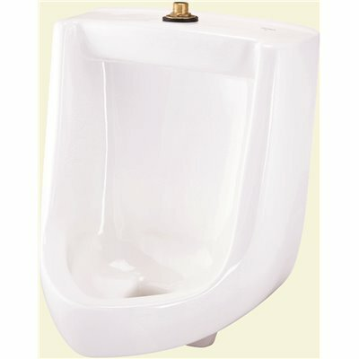 GERBER HAMILTON 1.0 GPF SIPHON JET URINAL WITH TOP SPUD IN WHITE