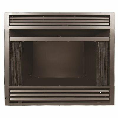 PLEASANT HEARTH UNIVERSAL CIRCULATING ZERO CLEARANCE 42 IN. VENTLESS DUAL FUEL FIREPLACE INSERT
