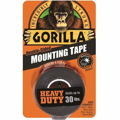 GORILLA 1 IN. X 1.67 YDS. BLACK HEAVY DUTY MOUNTING TAPE (6-PACK)