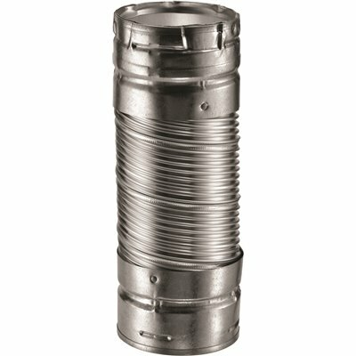 DURAVENT DURACONNECT I 3 IN. DIA X 12 IN. L SINGLE-WALL FLEX CONNECTOR