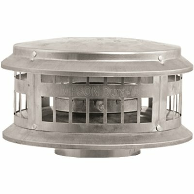 DURAVENT 3 IN. X 8 IN. DURA CAP TYPE B GAS VENT FOR CHIMNEY PIPE