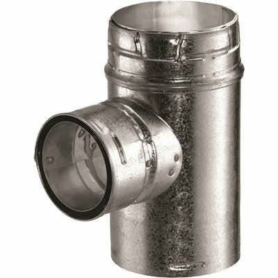 DURAVENT TYPE B GAS VENT 6 IN. X 3 IN. DIA INCREASER TEE