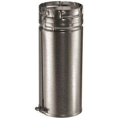 DURAVENT TYPE B GAS VENT 3 IN. DIAMETER X 12 IN. ADJUSTABLE PIPE