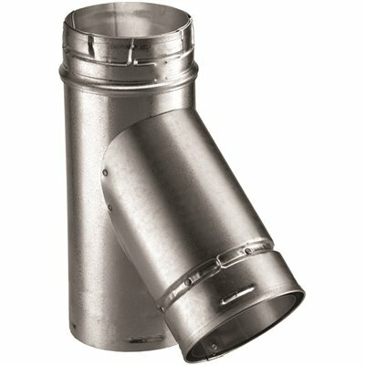 DURAVENT TYPE B GAS VENT 5 IN. DIAMETER WYE 4 IN. BRANCH 5 IN. BASE