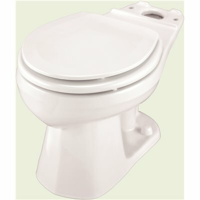 GERBER PLUMBING ULTRA FLUSH PRESSURE ASSISTED 1.0/1.28/1.6 GPF ROUND FRONT TOILET BOWL ONLY IN WHITE
