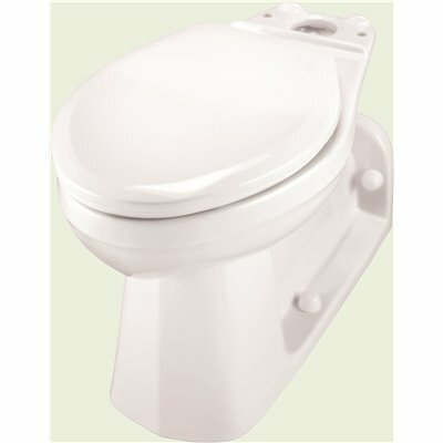 GERBER PLUMBING ULTRA FLUSH PRESSURE ASSISTED 1.0/1.28/1.6 GPF BACK-OUTLET ELONGATED TOILET BOWL ONLY IN WHITE