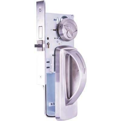 TOWNSTEEL LIGATURE RESISTANT SATIN STAINLESS STEEL MORTISE LOCK PRIVACY ARCH TRIM DESIGN