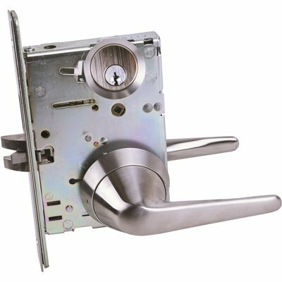 TOWNSTEEL LIGATURE RESISTANT SATIN STAINLESS STEEL MORTISE LOCK SECTIONAL LEVER TRIM