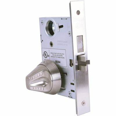 TOWNSTEEL LIGATURE RESISTANT SATIN STAINLESS STEEL MORTISE LOCK SECTIONAL KNOB TRIM