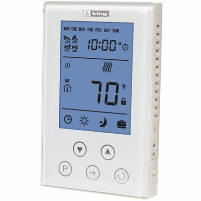 KING ELECTRIC THERMOSTAT 7-DAY PROGRAMMABLE, DOUBLE POLE 120/208/240-VOLT 15 AMP