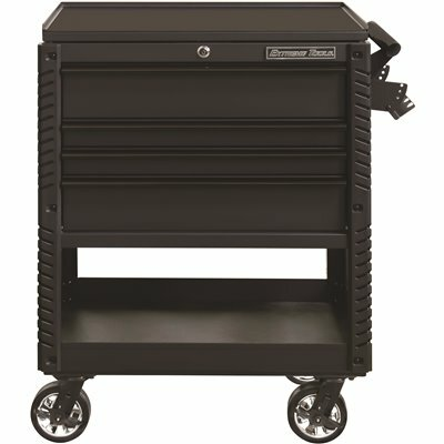 EXTREME TOOLS PROFESSIONAL 33 IN. DELUXE 4-DRAWER TOOL UTILITY CART WITH BUMPERS IN MATTE BLACK