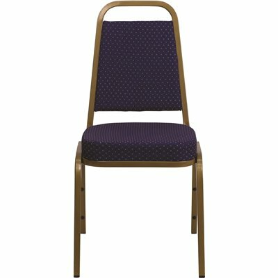 CARNEGY AVENUE NAVY PATTERNED FABRIC/GOLD FRAME STACK CHAIR