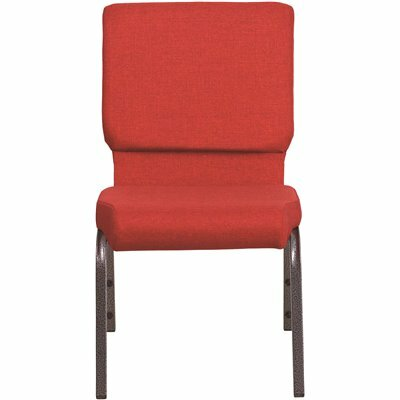 CARNEGY AVENUE RED FABRIC/SILVER VEIN FRAME STACK CHAIR