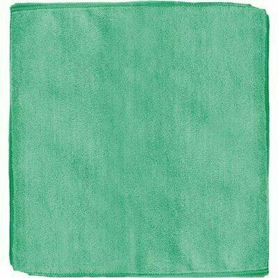 RENOWN 12 IN. X 12 IN. GENERAL PURPOSE MICROFIBER CLOTH IN GREEN (12-PACK)