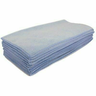 RENOWN 16 IN. X 16 IN. PREMIUM MICROFIBER CLOTH IN BLUE (12-PACK)