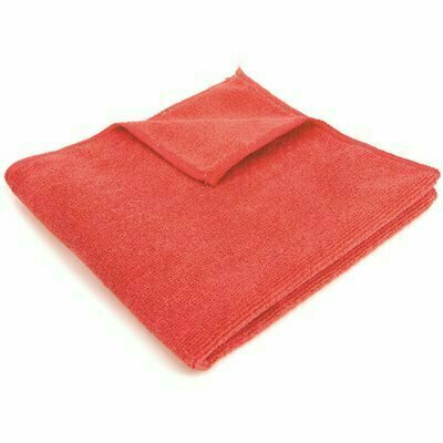 RENOWN 16 IN. X 16 IN. GENERAL PURPOSE MICROFIBER CLOTH IN RED (12-PACK)