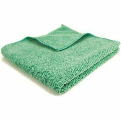 RENOWN 16 IN. X 16 IN. GENERAL PURPOSE MICROFIBER CLOTH IN GREEN (12-PACK)