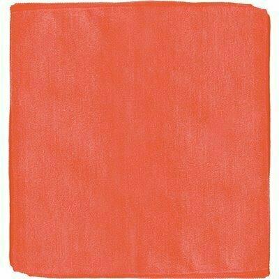 RENOWN 12 IN. X 12 IN. GENERAL PURPOSE MICROFIBER CLOTH IN RED (12-PACK)