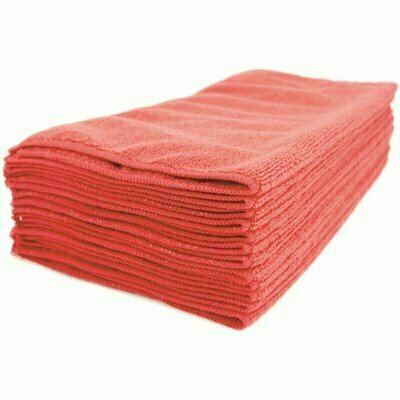 RENOWN 16 IN. X 16 IN. PREMIUM MICROFIBER CLOTH IN RED (12-PACK)