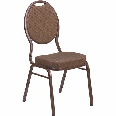 CARNEGY AVENUE BROWN PATTERNED FABRIC/COPPER VEIN FRAME STACK CHAIR
