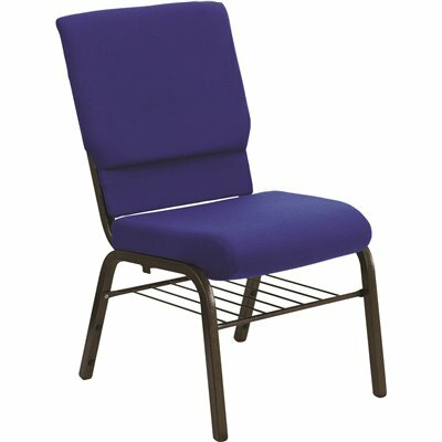 CARNEGY AVENUE NAVY BLUE FABRIC/GOLD VEIN FRAME STACK CHAIR