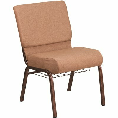 CARNEGY AVENUE CARAMEL FABRIC/COPPER VEIN FRAME STACK CHAIR