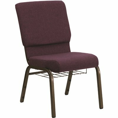 CARNEGY AVENUE PLUM FABRIC/GOLD VEIN FRAME STACK CHAIR