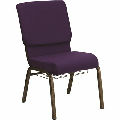 CARNEGY AVENUE ROYAL PURPLE FABRIC/GOLD VEIN FRAME STACK CHAIR