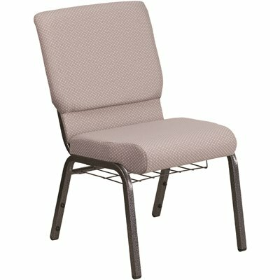 CARNEGY AVENUE GRAY DOT FABRIC/SILVER VEIN FRAME STACK CHAIR