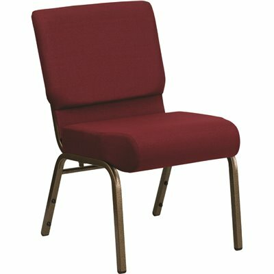 CARNEGY AVENUE BURGUNDY FABRIC/GOLD VEIN FRAME STACK CHAIR