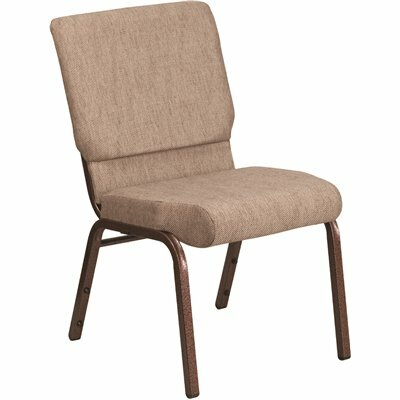 CARNEGY AVENUE BEIGE FABRIC/COPPER VEIN FRAME STACK CHAIR
