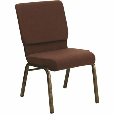 CARNEGY AVENUE BROWN FABRIC/GOLD VEIN FRAME STACK CHAIR