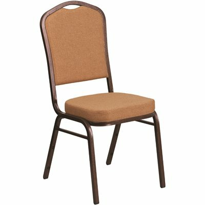CARNEGY AVENUE LIGHT BROWN FABRIC/COPPER VEIN FRAME STACK CHAIR