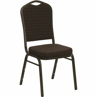 CARNEGY AVENUE BROWN PATTERNED FABRIC/GOLD VEIN FRAME STACK CHAIR
